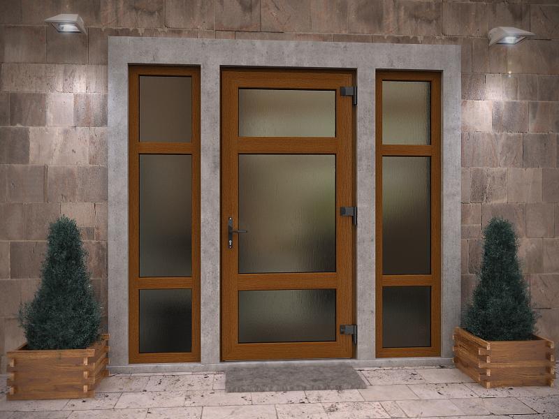 Входные металлопластиковые двери.