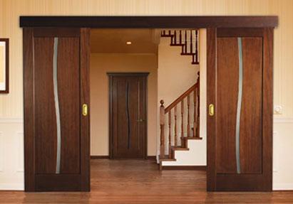 Ремонт деревянных раздвижных дверей
