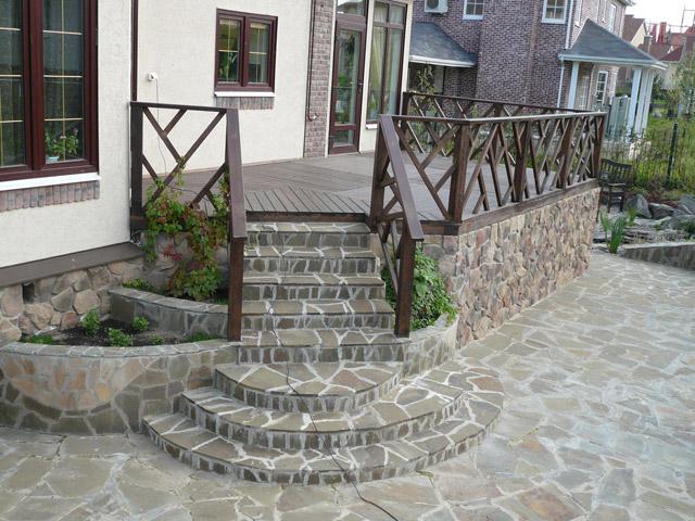 бетонная плитка на крыльцо