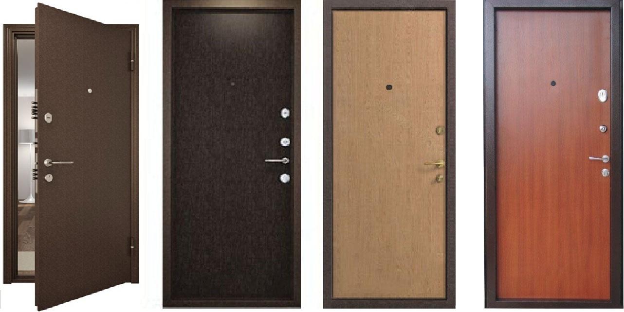разнообразие металлических дверей