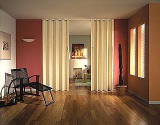 дверь-гармошка из ткани