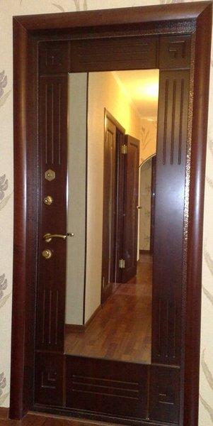 зеркальная вставка дверь стальная ягуар