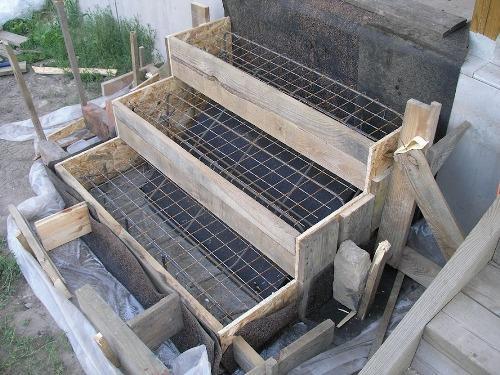 опалубка для бетонных ступеней