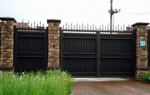 сварные металлическме ворота