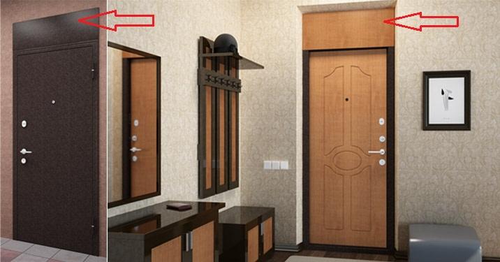 фрамуга входной металлической двери