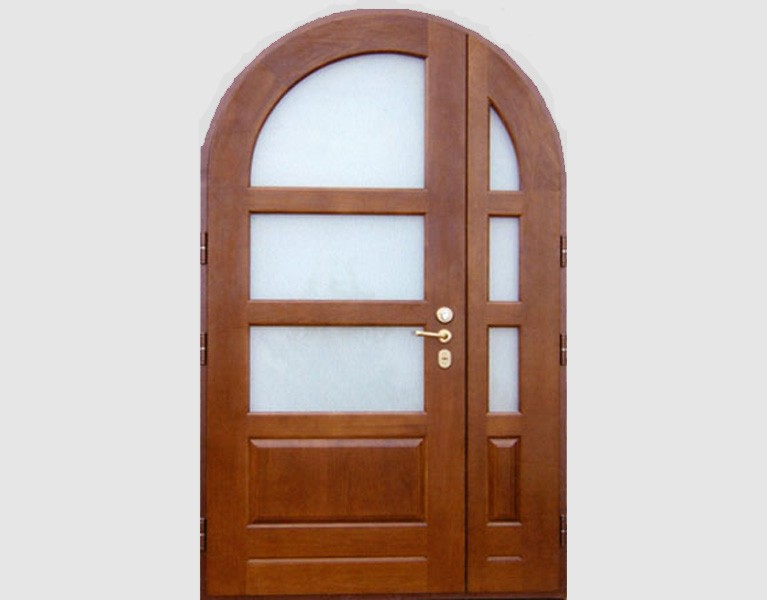 металлические двери со стеклянными вставками