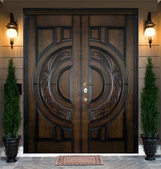 двойные двери входные