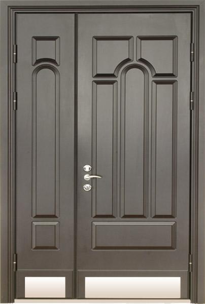 входные двойные двери фото