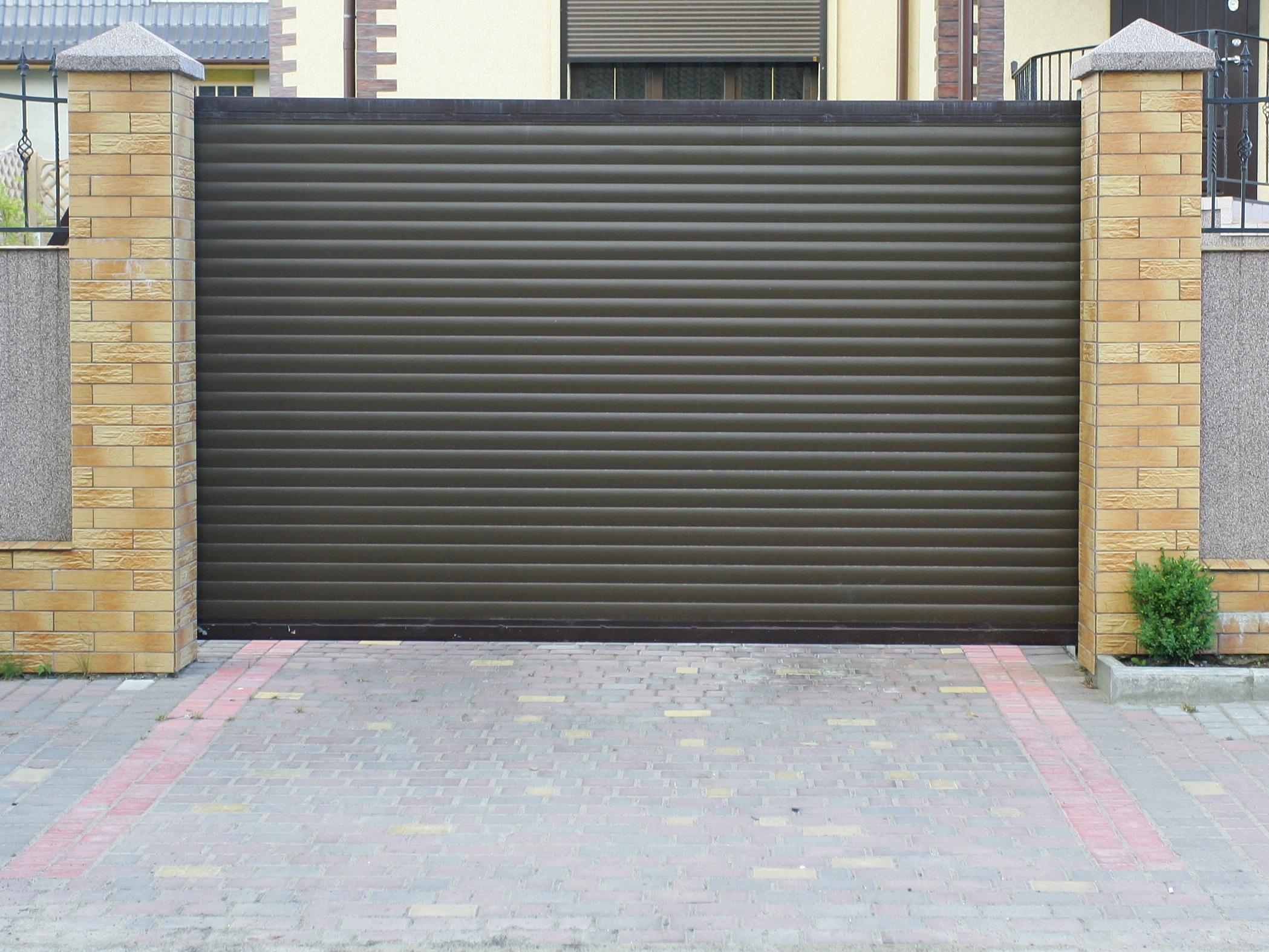 раздвижные ворота из профнастила