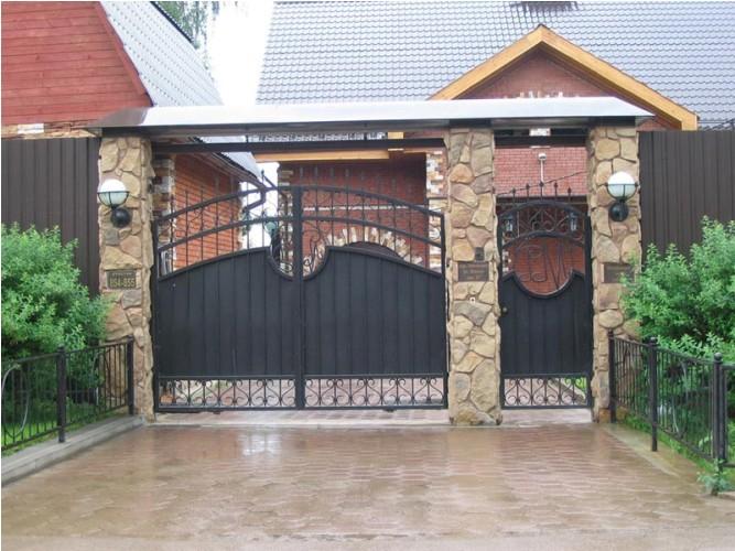 дизайн для ворот и калиток
