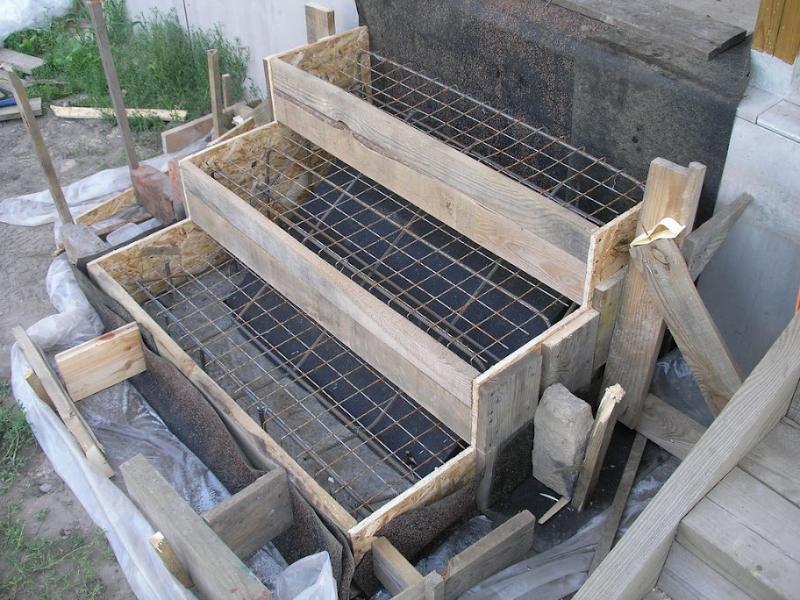 бетонные ступени фото