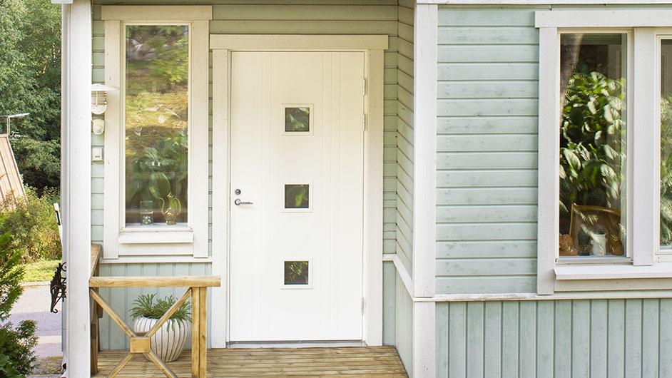 деревянная дверь белая фото