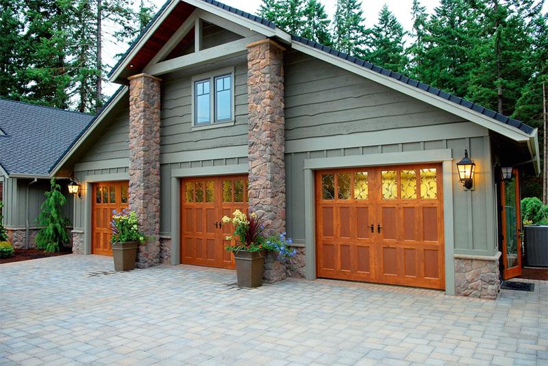 деревянные распашные ворота гараж