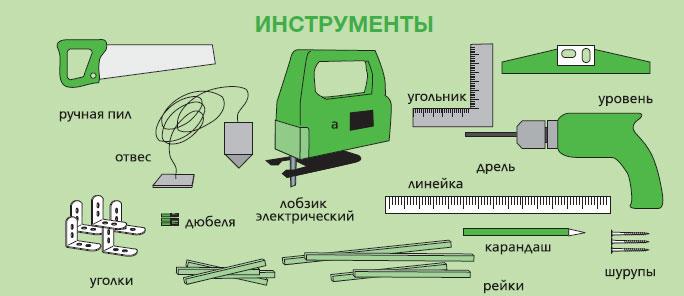 инструменты для установкм