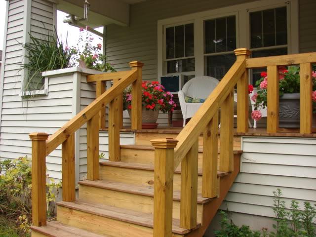 крыльцо для вашего дома из дерева