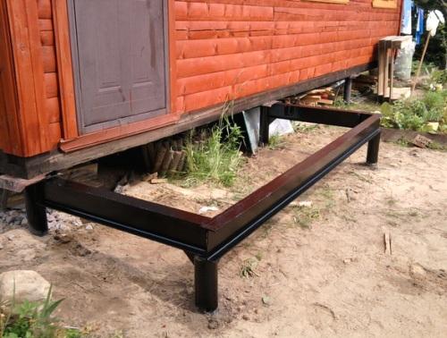 фундамент для деревянного крыльца фото