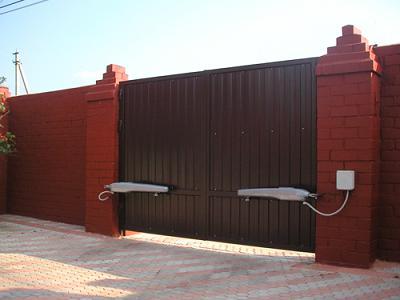 ворота из профнастила автомат