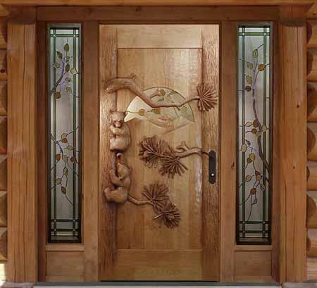 деревянная дверь оригинальная