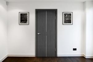 металлическая дверь ламинат
