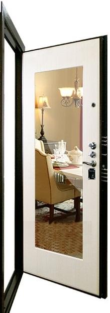 входная металлическая дверь с зеркалом